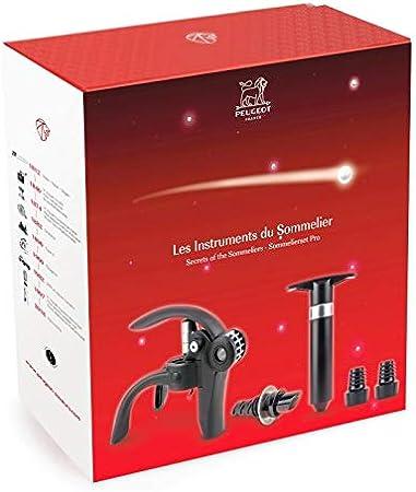 Peugeot 200749 Los Instruments du Sommelier - Sacacorchos Baltaz, vertedor y bomba de vacío