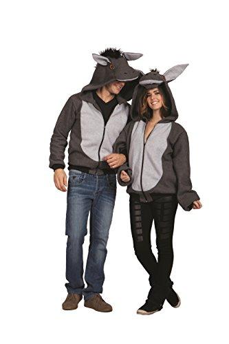 RG Costumes Men's 100 Acres Donkey Hoodie, Gray, Large]()
