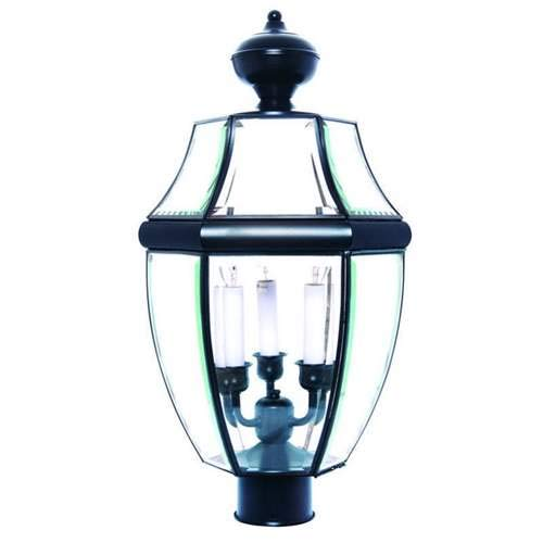 Maxim Lighting South Park Black 3-Light Post Light 6098CLBK