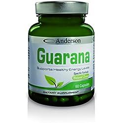 Integratore Anderson Guarana (60 cps) Formulazione Forte - Eccitante - Afrodisiaco - Erezione - Impotenza