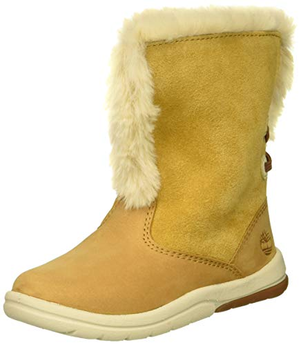 Timberland Baby Toddle Tracks Faux Shearling Bootie Fashion Boot, Wheat Nubuck, 9.5 Medium US Toddler (Infant Timberland Boots)
