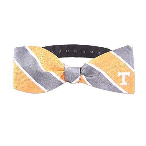 (NCAA Tennessee Volunteers Mens Woven Silk Repp Stripe Collegiate Logo Bow-Tie 1, Orange, One Size)