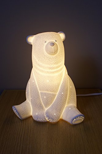 Forest Rustic Table Lamp - Porcelain Bear Lamp