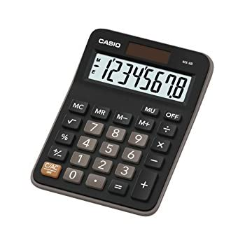 Casio GX-120B Electronic Desktop Calculator with 12-Digit Extra Large Display (5.8×4.2 in)