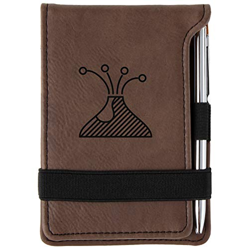 (Pompeii Engraved Leather Personalized Mini Notepad With Pen)