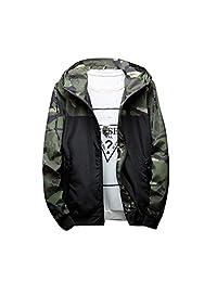 Allywit Men's Windbreaker Tactical Outdoor Coat Camouflage Softshell Jacket Hunting Jacket