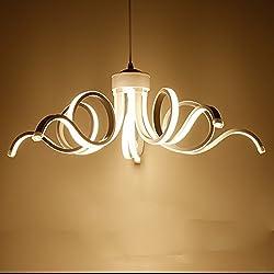 LightInTheBox Modern Chandelier Pendent Light LED Lamp Curl Style for Hallway,Bedroom,Kitchen,Kids Room (Warm White)
