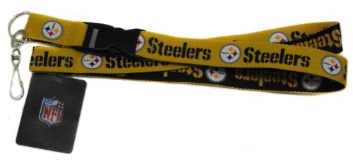 (Pro Specialties Group NFL Pittsburgh Steelers Two Tone Lanyard, Gold/Black, One Size)