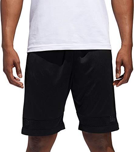 adidas Mens Pro Bounce Basketball Shorts (Black/Metallic Gold/XX-Large)