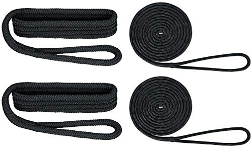 Extreme Max Standard 3006.2693 BoatTector Premium Double Braid Nylon Dockside Rope Value Pack-1/2, -