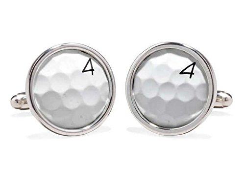 Sawgrass Golf Ball Cufflinks (Silver - Sawgrass At Stores