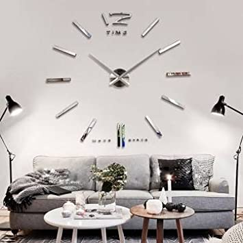 7 12 Days Big Large DIY Frameless Wall Clock Kit 3D Amazoncouk