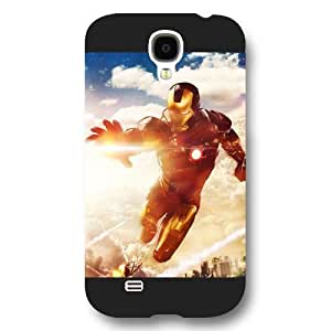 UniqueBox Customized Marvel Series Case for Samsung Galaxy S4, Marvel Comic Hero Ironman Samsung Galaxy S4 Case, Only Fit for Samsung Galaxy S4 (Black Frosted Case) WANGJING JINDA