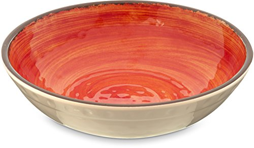 Carlisle 5401952 Mingle Melamine Cereal Bowl, 35.5 Oz, Fireball (Set of (12 Ounce Melamine Bowl)