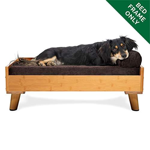 FurHaven Pet Bed Frame | Bed Frame for Pet Beds & Mattresses, Bamboo, Medium (Renewed)