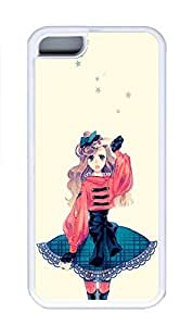 iPhone 5C Case, Personalized Custom Rubber TPU White Case for iphone 5C - Girl1 Cover by mcsharks
