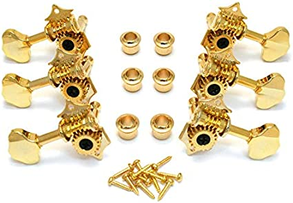 Wilkinson WJ-28N Vintage Open Gear Butterbean Guitar Tuners Tuning Keys Pegs Machine Heads 19:1 Gear Ratio