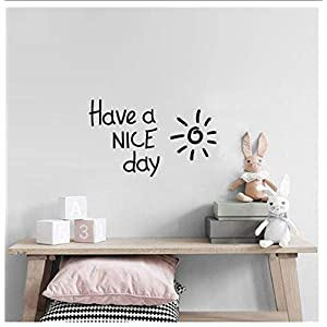 Buzdao Have A Nice Day Lovely Sunshine Quote Wall Sticker Decor for Kids Rooms Bedroom Decoration Decal Living Room Bedroom Home Decora