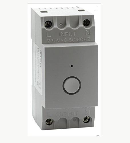 Optimum OP-DRWF01 Wi-Fi Enabled Din-Rail Time Switch, 230 V, White