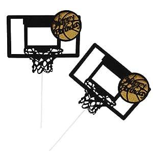 Amazon.com: BESTOYARD 6pcs Basketball Hoop Cake Topper