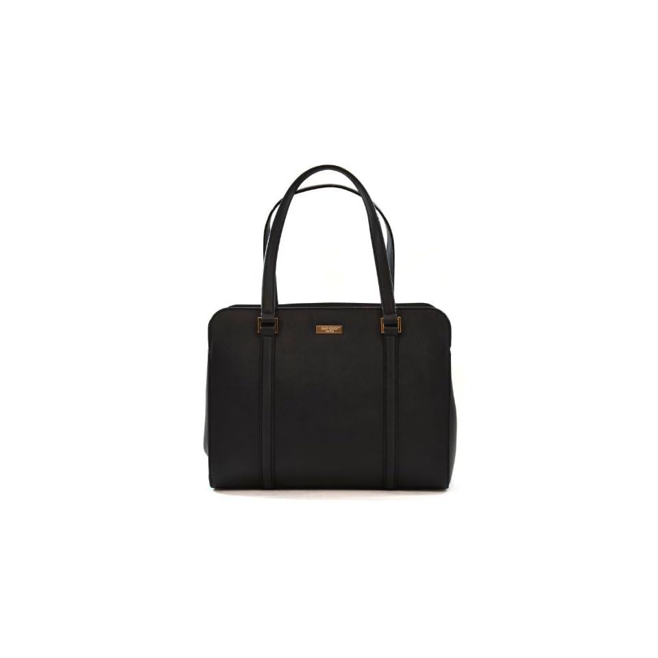 Kate Spade Saffiano Leather Newbury Lane Miles Handbag Shoulder Bag (Black)