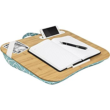 "LapGear XL Designer Lap Desk,  - Aqua Trellis (Fits upto 17.3"" Laptop)"