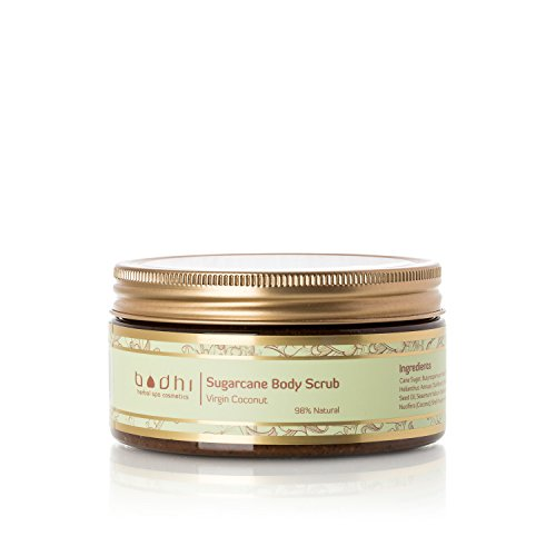 Bodhi Cosmetics Luxury Coconut Sugarcane Body Scrub - Highly Concentrated with Vitamins and Essential Oils That Rejuvenate and Cleanse the Skin, 8.5 Fl Oz