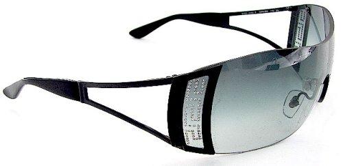 9b5c307f071f Versace 2058-B 2058B 1009 8G Soft Gray Lens   Black Frame Size 01-37-115  Sunglasses  Amazon.co.uk  Clothing