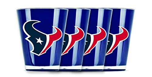 NFL Houston Texans Insulated Acrylic Shot Glass Set of 4 ()