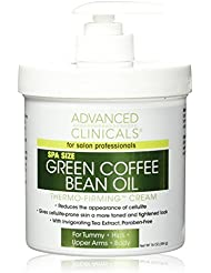Advanced Clinicals Green Coffee Bean Oil Thermo-firming Body Cream 16oz Spa Size