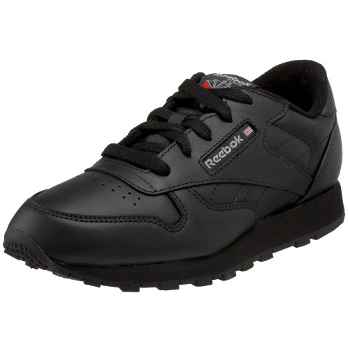 Black Kid Leather - Reebok Little Kid/Big Kid Classic Leather Sneaker,Black,3.5 M US Little Kid