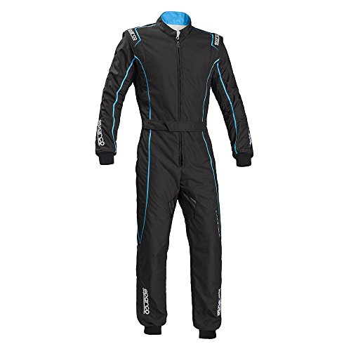 Sparco Groove KS-3 Kart Racing Suit 002334 (Size: Small, Black/Celeste) -
