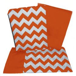 Chevron Rocking Chair Cushion   Color: Orange