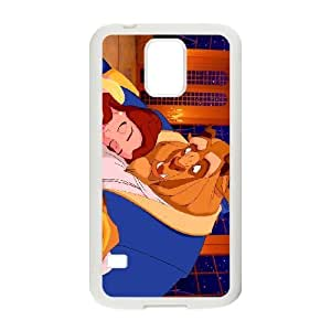 Samsung Galaxy S5 Cell Phone Case White Beauty and the Beast Character Beast DNM
