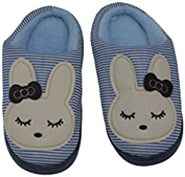 Small Rabbit Cartoon Children Warm Home Cotton Slippers Thick Bottom Floor Non - Slip Matte Shoes
