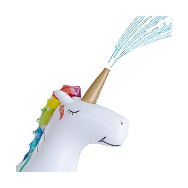 XGEAR Large Inflatable Unicorn Yard Sprinklers, Outdoor Sprinkle and Splash Play,Lawn Sprinkler, Summer Inflatable Water Spray Toy ,Fun Play Games for Kid Child Adult 5