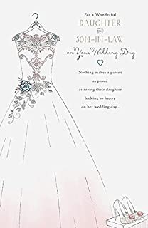 Daughter And Son In Law Quality Wedding Day Congratulation Greeting Card