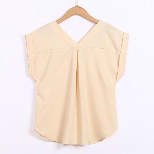 Chic Femme V Coton Beige Courte Blouse Casual Grande Taille Tops Manche Col Sexy Shirt Lin LGante Chemisier Haut T d5tnqn