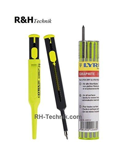 1 Stück Bleistift Lyra-Dry + 12 Ersatzminen graphit im Set Neu