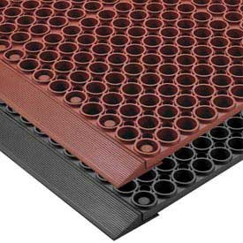 y Rubber Tek-Tough Safety/Anti-Fatigue Mat, for Wet or Greasy Areas, 3' Width x 2' Length x 7/8