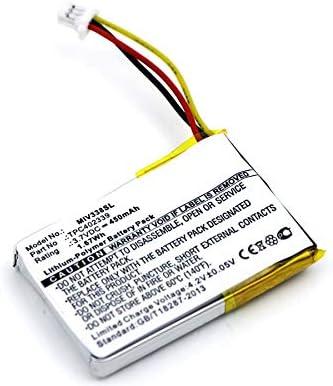 450mAh bateria Repuesto Pila subtel/® Bater/ía Premium Compatible con Mitac Mio Mivue 338 Mio Mivue 358P Mio Mivue 366 Mio Mivue 368 Mio Mivue 388 Mio Mivue 658p Papago F210 TPC402339