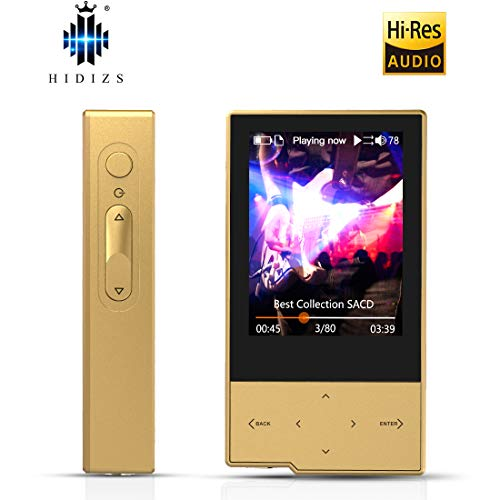 HIDIZS AP60 Ⅱ MP3 Player with Bluetooth, Hi-Res Lossless Music Player Support Aptx/FLAC/DSD/AAC - Digital Audio Player with SD Card Slot (Gold) (Best Flac Player Windows 10)
