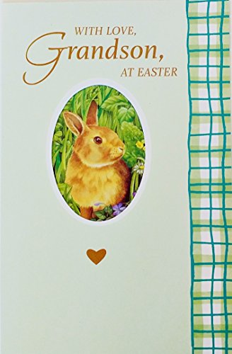 (A Grandson Has A Special Place In Your Heart - Happy Easter Greeting Card -
