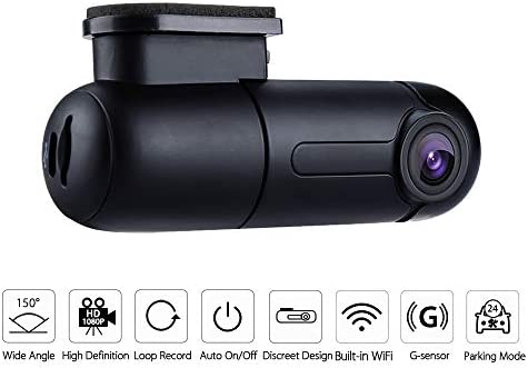 WiFi Mini Dash Cam Sony Sensor Full HD 1080p Car Camera 150 Wide Angle with Super Capacitor Vehicle Driving Video Recorder 360 Rotatable Lens G-Sensor Loop Recording Parking Mode Blueskysea B1W