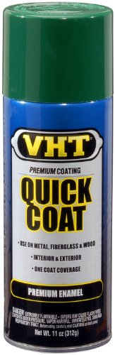 VHT SP512 Quick Coat Forest Green Acrylic Enamel Can - 11 oz. (Vht Lead)