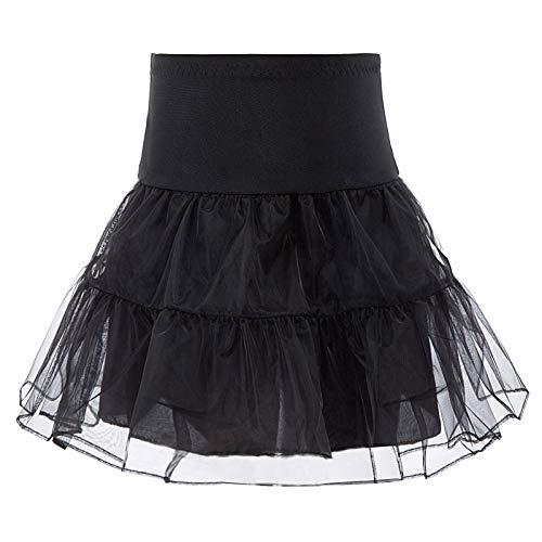 - Danna Belle Girls Vintage Petticoat Crinoline Ivory Underskirts 8-9Yrs Black