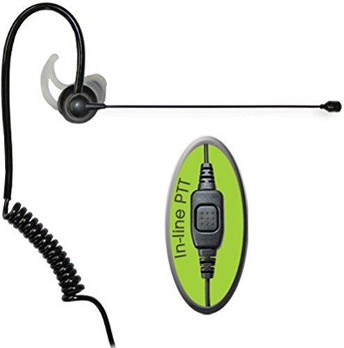 Relm Mobile - Klein Electronics Comfit-K1 Noise Canceling Boom Microphone for Kenwood/Blackbox/HYT/Relm Radios, Noise Canceling Boom with Flat PTT. Stays in Place with Zero Boom Wag