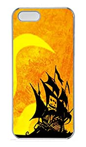 iPhone 5S Case,Cassette Tape Pirate Ship PC Hard Plastic Case for iPhone 5/5S Transparent