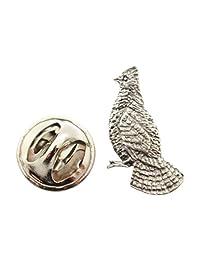 Sarah's Treats & Treasures Ruffed Grouse Mini Pin ~ Antiqued Pewter ~ Miniature Lapel Pin