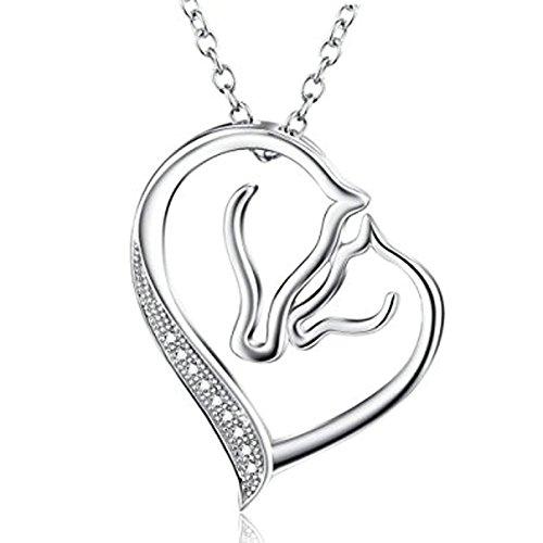 Rose Gold Pendant Necklace for Women Zircon Flower Tassel Pendant Long Chain by Aienid